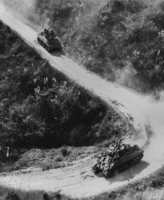 Allied Tanks use the Burma Road for the first time in two years in Jan. 1945. Also called the 'Ledo Road', it was the only overland supply route to China during World War 2.