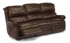 Comfort Zone Leather or Fabric Reclining Sofa by #Flexsteel via Flexsteel.com