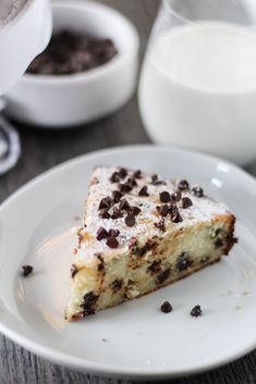 Chocolate Chip Ricotta Cake - 4 Sons 'R' Us Cake Recipes, Dessert Recipes, Desserts, Easter Pie, Italian Chocolate, Ricotta Cake, Italian Cake, Mini Chocolate Chips, Cupcake Cakes