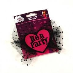 The Hens Party Bow features a pink heart with words Hen Party and Black Polka Dot netting. It easily fastens to the hair so no need to worry about messing any hair dos! Hens Night, Party Hairstyles, Hair Dos, Polka Dots, Bows, Bride, Pink, Classy, Awesome