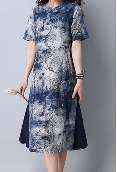 Women loose fitting over plus size ethic flower dress oriental tunic fashion #Unbranded #dress #Casual