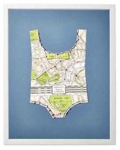 Wolfe, Paper Bathing Suit: London Map