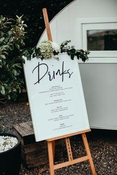 Drink Sign | Bar Menu | Wedding Signage | Large Sign Easel | Greenery | Calligraphy Wedding Sign Wedding Goals, Our Wedding, Wedding Planning, Dream Wedding, Wedding Dreams, Wedding Stuff, Drink Signs, Wedding Calligraphy, Cursive Calligraphy