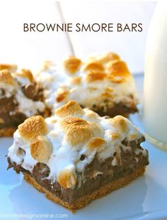 Brownie S'mores- as good as they look. Great summer dessert