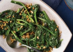 Spicy Spinach with Sunflower Seeds | Vegetarian Times