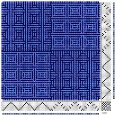 shadow weave op 8 schachten, gebroken profiel