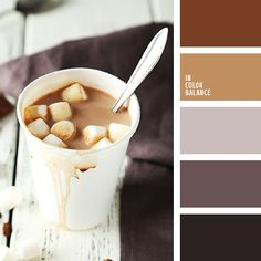 Hot chocolate - winter color inspiration
