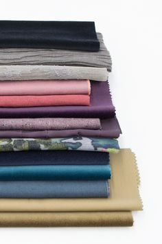 """Création Baumann presents the """"Cotton & Stories"""" Collection Red Purple, Blue Yellow, Grey Pattern, Curtain Fabric, Earthy, Print Design, Cotton Fabric, Weaving, Delicate"""