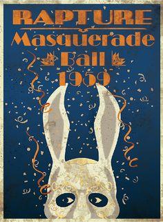 BioShock Rapture Masquerade Ball 1959  Vinyl Sticker