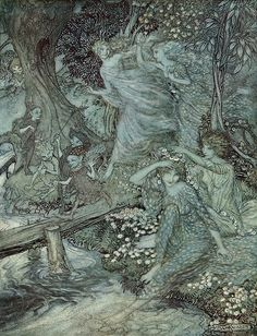 Arthur Rackham Week Friday is Comus by John Milton published 1922 - 4 Comus is a masque written by John Milton. Rackham may have felt an affinity to the great poet, as a fellow country-man. The masque...