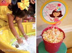 Bubble Themed Birthday Party Ideas. Designed by Amy Locurto at LivingLocurto.com