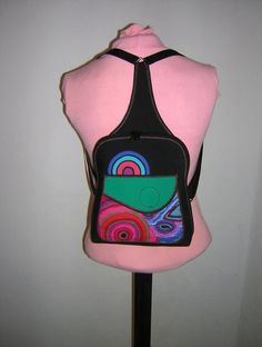 Small Back Pack Women's Rucksack Hipster mini guitar by mocsi61