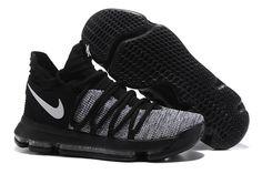 huge discount ec1f3 116cd 2017 Nike Zoom KD 10 Black Grey White,cheap nike kd basketball shoes Cool  Adidas