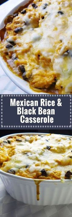 Mexican Rice & Black Bean Casserole - popular ingredients like rice, chicken, refried bean, and cream cheese // mix it all up for a max prep and cook time of 1 hr, and have fabulous meals during th (Mexican Recipes Casserole) Healthy Potato Recipes, Sweet Potato Recipes, Cauliflower Recipes, Casseroles Healthy, Quick Casseroles, Casseroles With Chicken, Cauliflower Casserole, Potatoe Casserole Recipes, Beef Casserole