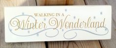 Walking in a Winter Wonderland - cute winter / Christmas sign #vinyl #winter #christmas | Simply Designing