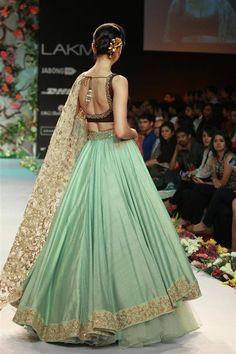 Shamal and Bhumika pastel lengha for a designer conscious bride #pastellehenga #WedFine