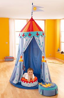 HABA - Erfinder für Kinder - Hanging tent Knight's Tent - Swing seats + Room tents - Children's room - Toys & Furniture