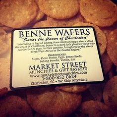 charleston traditions benne wafers and benne candy