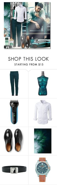 """""""DEFINITIVE STYLE"""" by angelflair ❤ liked on Polyvore featuring Lords of Harlech, Braun, Church's, Versace, BOSS Hugo Boss, men's fashion and menswear"""