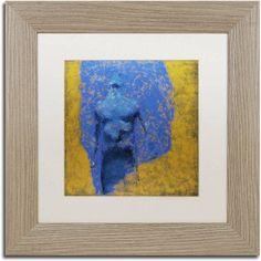Trademark Fine Art Explosao Canvas Art by Joarez, White Matte, Birch Frame, Size: 16 x 16, Brown