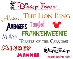 Disney Fonts for Free - I Heart Free Fonts