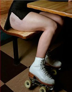 roller skates and bruises