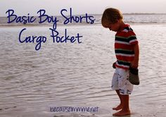 Boys shorts pocket tutorial ~ with link to free shorts pattern