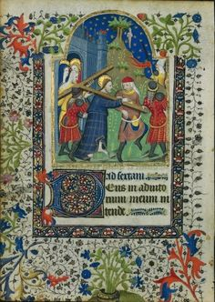 Leaf Excised from a Book of Hours: Christ Carrying the Cross (Sext, Hours of the Cross), c. 1410-1420, The Cleveland Museum of Art