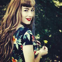 The Coppertone, vintage, rockabilly, retro, vintage, tattoo, red hair, Hawaii