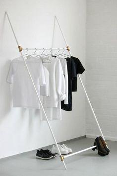 #rollingrack #blackandwhite #simple #shoes #tshirts Interior Design Examples, Interior Design Inspiration, Daily Inspiration, Design Ideas, Diy Furniture, Modern Furniture, Furniture Design, Wardrobe Storage, Organization Ideas
