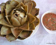 Le blog de Cata: Artichaut Vinaigrette Snack Recipes, Snacks, Cata, Serving Bowls, Chips, Tableware, Kitchen, Blog, Albanian Cuisine