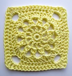 another crochet square | tutorial at about crochet