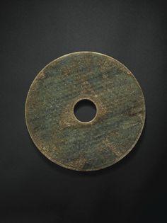 Rare Grand Disque en Jade, Bi Dynastie des Han Occidentaux