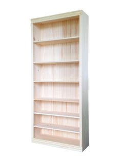 "Bookcase | Unfinished Pine | 36""W x 82""H x 12""D"