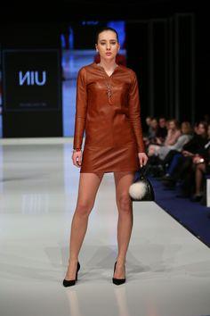 Leather dress / Women's Fashion