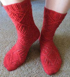 Garden Patch Socks by verybusymonkey #knit