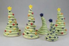 Adorable coiled xmas trees