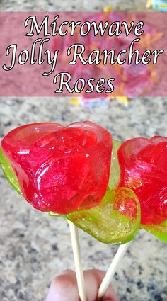 Hello this is how you make one of my favorites. Jolly rancher roses! They are perfect for any occasion! They are easy and so much fun to make!