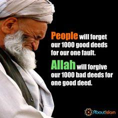 Allah will forgive our 1000 bad deeds for 1 good deed! SubhanAllah! ❤️  #Forgiveness #GoodDeeds #IslamicFaith