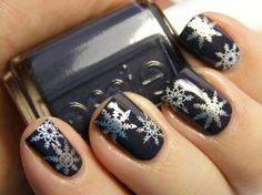 Essie Bobbing For Baubles with snowflakes