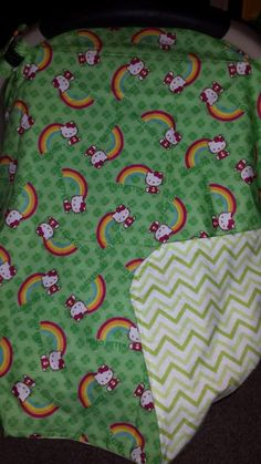 hello kitty carseat baby blanket cover by Attitudeinpink on Etsy, $20.00