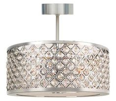 Bring on the bling with this gorgeous convertible semi-flush light.