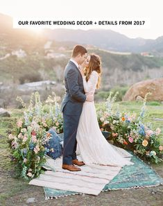 Our Favorite Wedding Decor + Details from 2017 - boho chic floral ceremony space Wedding Ceremony Ideas, Wedding Altars, Wedding Poses, Ceremony Decorations, Wedding Trends, Boho Wedding, Wedding Flowers, Green Wedding, Rustic Wedding