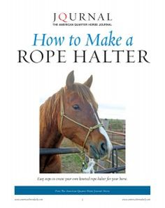 Two experts at Columbia Basin Knot Company shared with The American Quarter Horse Journal their 34-step process for making a quality homemade rope halter. In AQHA's How to Make a Rope Halter report, each step includes a full-color photo to help guide you through the process.