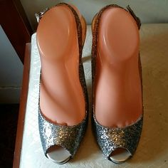 Silver Glam Glamorous Women heels Silver Glamorous Sparkling Shoe, Be the center of attention. Coriffics Shoes Heels