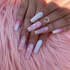 Excellent cute nails are readily available on our internet site. Have a look and you will not be sorry you did. Acrylic Nails Coffin Pink, Summer Acrylic Nails, Pink Summer Nails, Pink Acrylics, Spring Nails, Coffin Nails, Stylish Nails, Trendy Nails, Classy Nails