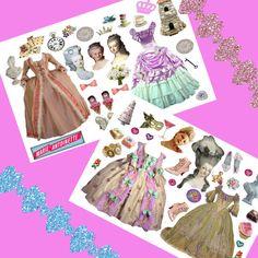 Marie Antoinette Paper Dolls, 2 Sheet Set, Digital Collage Sheet, png and jpg avail, cu ok. $3.00, via Etsy.