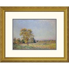 "Global Gallery 'A Summer's Day' by Alfred Sisley Framed Painting Print Size: 25.34"" H x 32"" W x 1.5"" D"