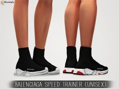 The Sims 4 Elliesimple - Balenciaga Speed Trainer (unisex) Sims 4 Mods Clothes, Sims 4 Cc Kids Clothing, Sims 4 Cas, Sims Cc, Sims 4 Children, Sims 4 Cc Shoes, Sims 4 Dresses, Sims 4 Gameplay, Sims4 Clothes