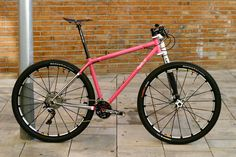 "CUSTOM ""PINK LOVE"" STEEL 29ER MOUNTAIN BIKE BY CYCLO BICYCLES"